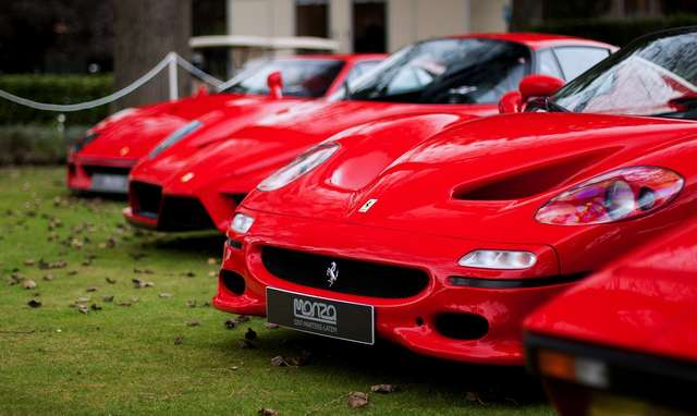 photo-of-red-ferrari-cars